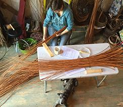Sorting the willow before making a willow coffin