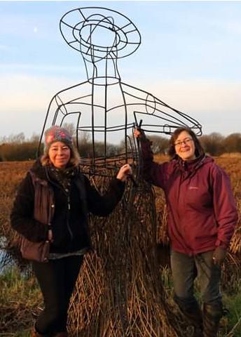 Mel and Sarah sculpture