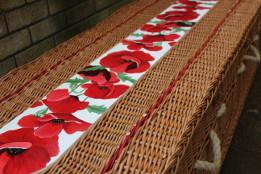 Rose poppy flower willow coffin